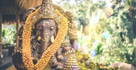Ganesh statue in garden