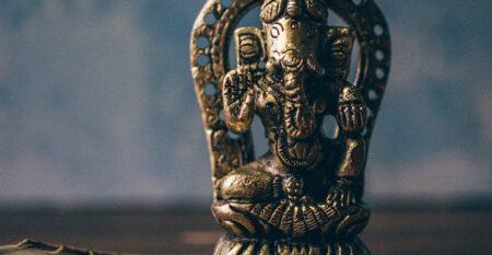 bronze ganesh statuette